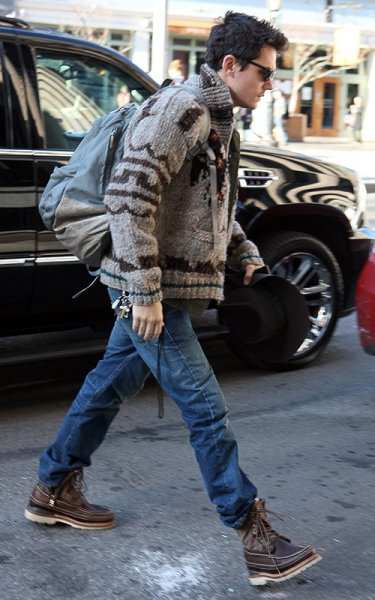 John Mayer out in NYC Friday….