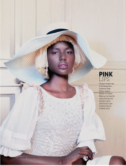 fashizblackdiary:  Ajak Deng for Chanel Beauty (Marie Claire S.A.).