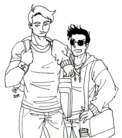 batmangambit:  I tried some highschool!Stony because of reasons