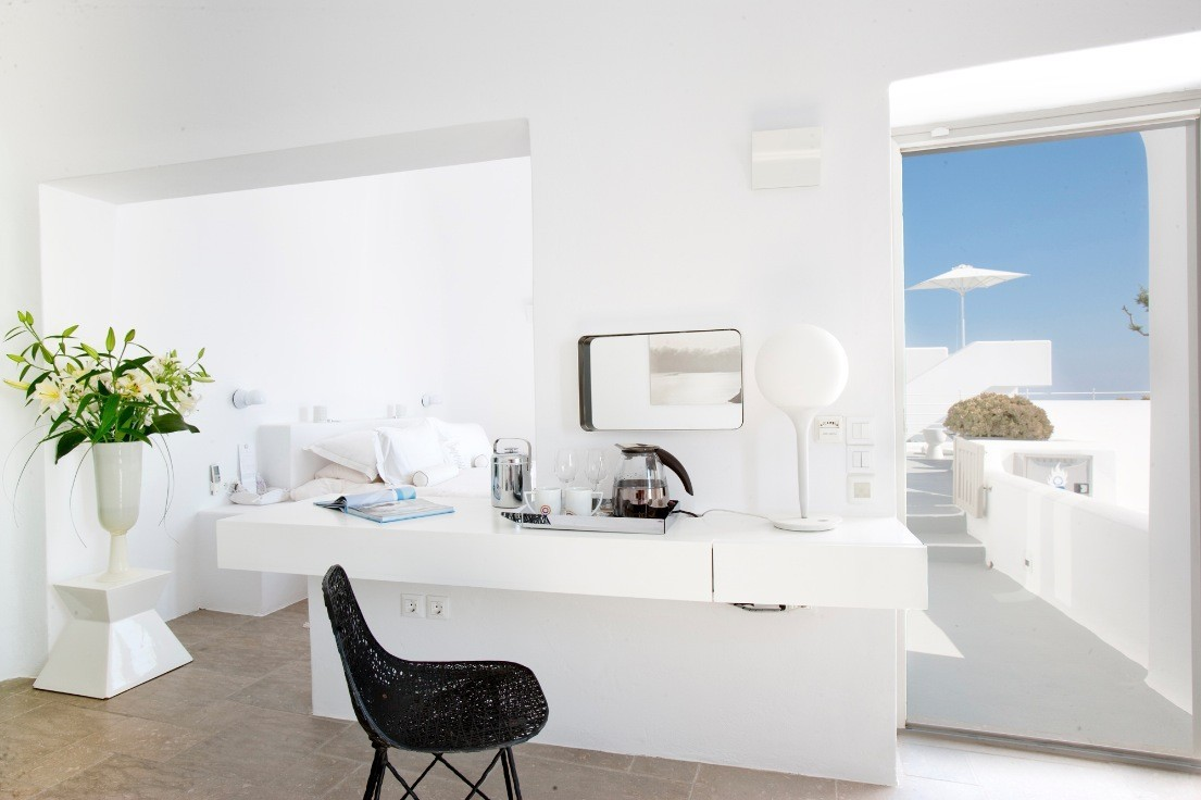 homedesigning:  Santorini Grace Coffee Station