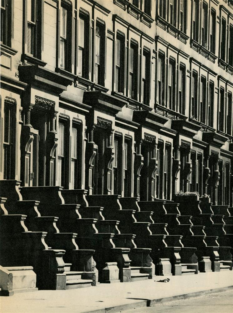 Brownstones: West Side, 1963Evelyn Hofer