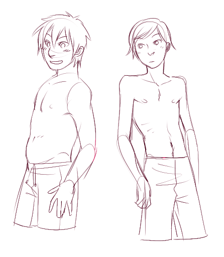 zu-art:  I was thinking of my headcanon body types for Miguel and Manu… and then this.  HERMOSOS BEBEZINHOS DSFILJDFILHFDIFDFIUDH I MISSED MY BABIES <333