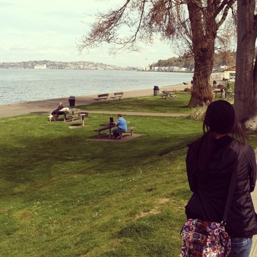 #alkibeach #alki #sun #firsttimehere (at Spud Fish & Chips)