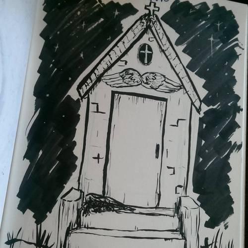 #Drawlloween2015 Day 16 - Grave#inktober #inktober2015