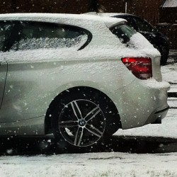 #goodmorning #snowing #scottyland #cold #bmw #dads #myphotography