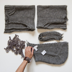 gridjunky:100% Wool recycled from a DKNY women's sweater.