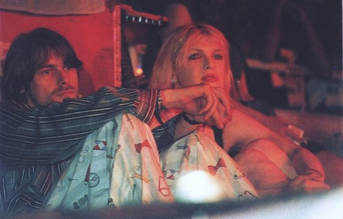 "nirvananews:  ""The first time Kurt and I slept together was at a Days Inn in Chicago, we were having our first postcoital moment, and we're watching MTV and the 'Smells Like Teen Spirit' video came on. I pulled away from him because it was his video, his moment, he was the king of the fucking world, he put his arm around me and pulled me closer. Which was symbolic, like, I'm letting you into my life. That really endeared him to me,"" - Courtney Love."