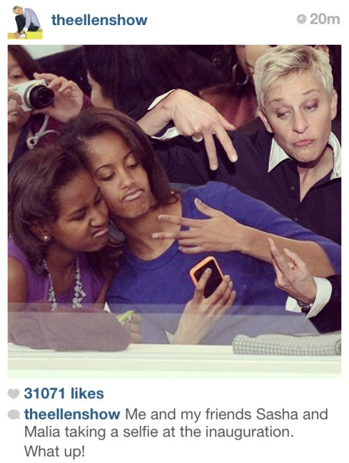the-stitch-monstr:  Ellen's Instagram is the best thing ever