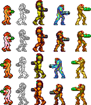 Can we appreciate the fact that Samus' left and right facing sprites aren't just mirror images like most game characters?