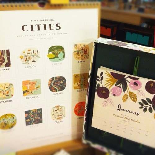 The Rifle Paper Co. Cities Calendar and the Botanical Desk Calendar are on stock now! Heima LRI Makati #paperclub #heimastore #2013 #HappyNewYear