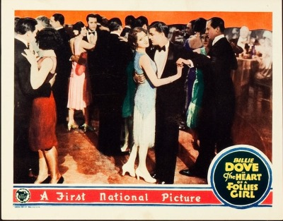 Lobby card for The Heart of a Follies Girl (1928). Sold here.