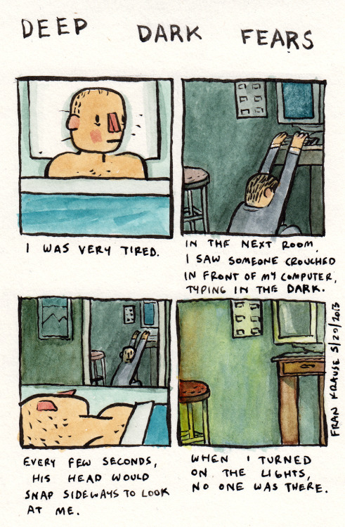 deep-dark-fears:  deep dark fears I try to get more sleep these days.