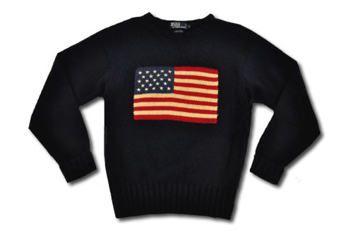 A true classic. Vintage Ralph Lauren Flag Sweater.