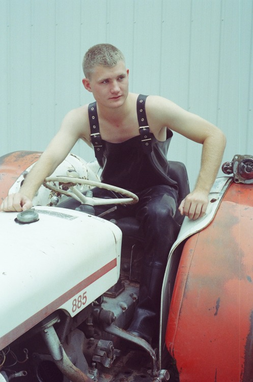 Pigboy Joe on his tractor. copyright Brian Douglas Ahern PIGBOYS 2: Hog Heaven