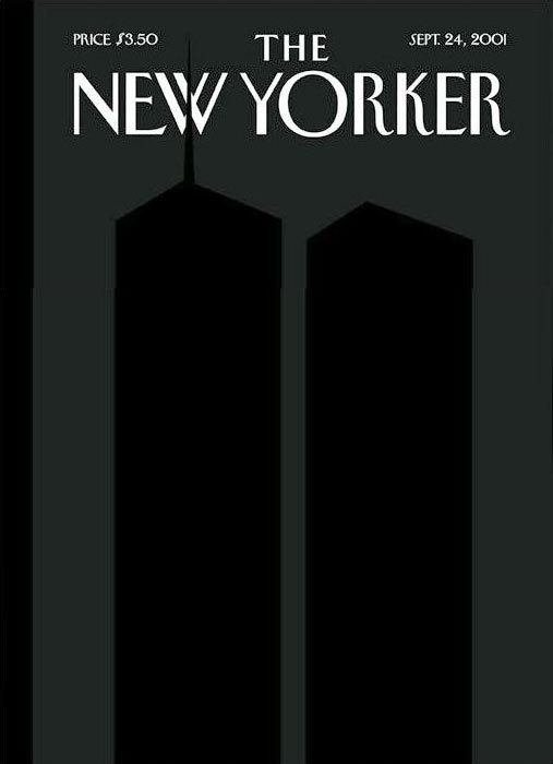 Sept 24 2001 cover of The New Yorker magazine of the World Trade Center Twin Towers.
