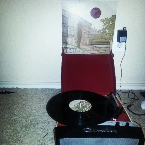 achingforcomposure:  I'm wide awake it's morning. #vinyl #brighteyes