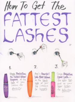 heatherporter:  How To Get The Fattest Lashes