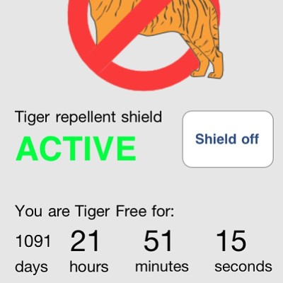 I would never go back to not being tiger free. Best thing I've ever done.