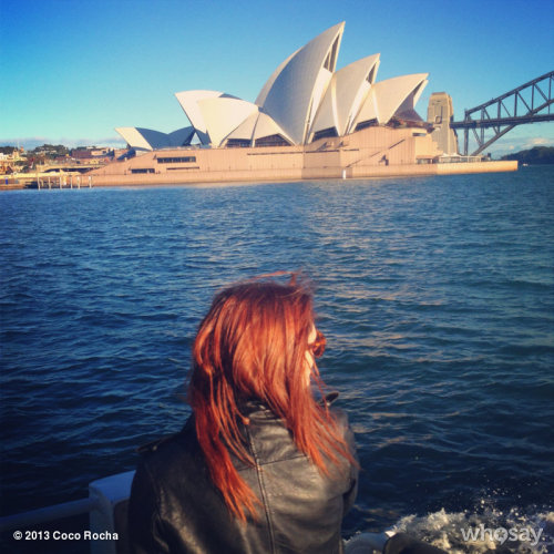 Here she is - the Sydney Opera House! View more Coco Rocha on WhoSay