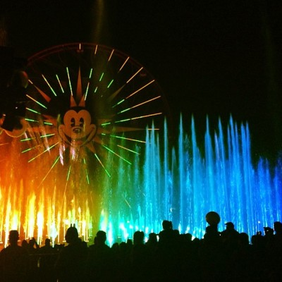 We finally stayed long enough to see world of color. @davidgutel  (at World of Color)