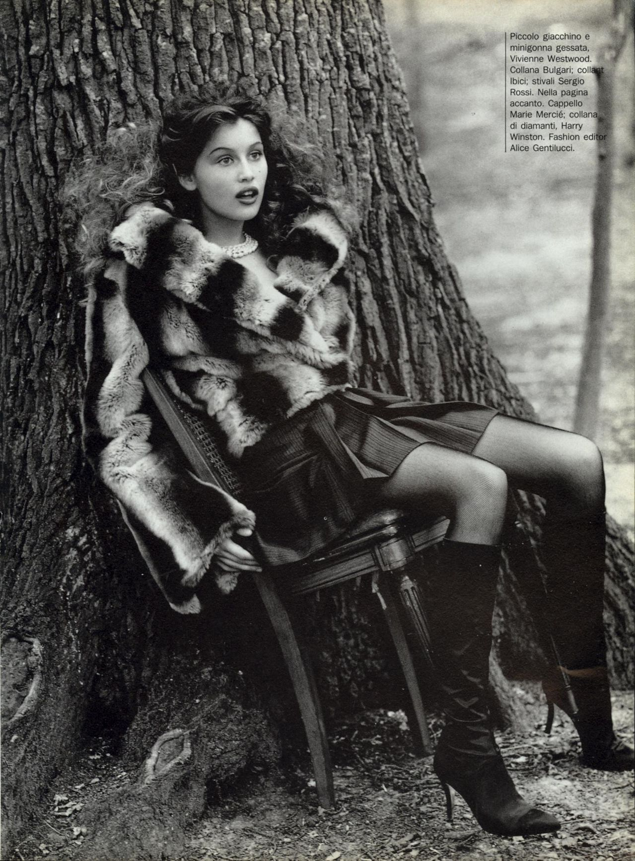 Laetitia Casta - Vogue Italia by Arthur Elgort, November 1994