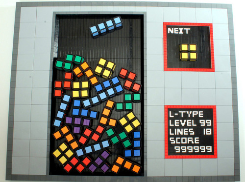 Tetris: Like A Boss. by Jameson42 on Flickr.Level 99 of TETRIS via LEGO dice…so cool!