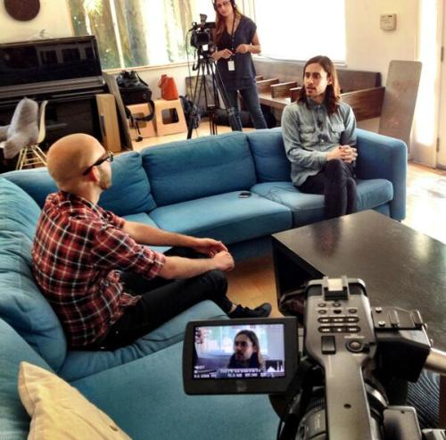 sissyredangel:  Sneak peek of @latimesvideo interview w/@JaredLeto #LoveLustFaithDreams #Mars