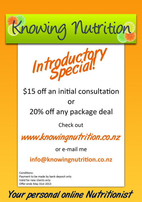Hey everyone…Check out my introductory offers! Also get in the draw for a FREE initial consultation by liking and sharing my facebook page. Once it gets to 100 'likes' I will make the draw! Please share with your friends and family