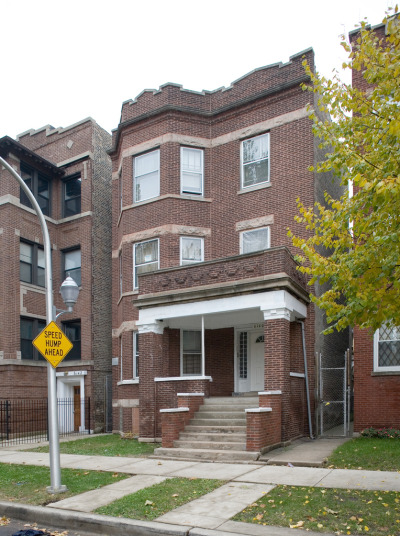 Hansberry family house, Chicago's South Side; source of conflict, center of legal battles, and inspiration for A RAISIN IN THE SUN. Fitting sign.