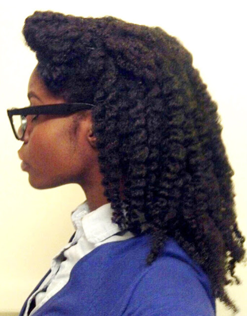 pvspnaturals:  winefinedarkchicks: Love her hair style!  WineFineDarkChicks Black girls Long Hair!  PVSP Naturals Natural Is Beautiful