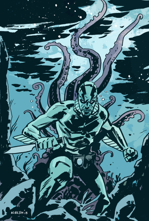 Abe Sapien (In Colour) for the Multiversity '31 Days of Abe' event. Check out there site for a bunch of other Abe art from some of the best artists in the biz.