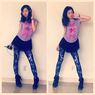 Listen Flavour top x Black Milk Amethyst leggings