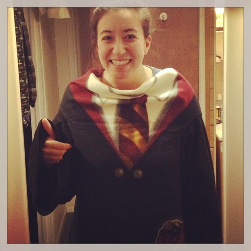 After a messed up Amazon Christmas order, my Gryffindor robes are finally here! …Now all I need is my Hogwarts acceptance letter, but I've been waiting since 1998 so what's another year or two?