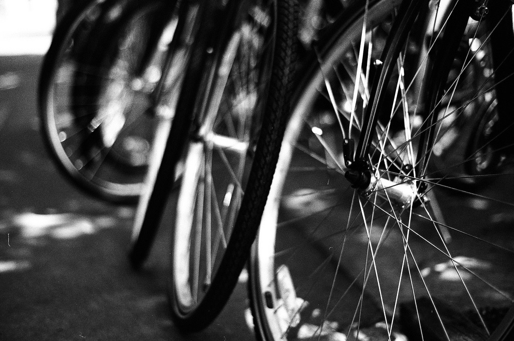 Cycling on Flickr. Taken in Portland, June 2011. Shot on expired Ilford 125.