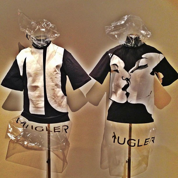 Preparing for MUGLER pop up store in paris. Opens Monday for one week!! Palais Royal Paris , Joyce gallery