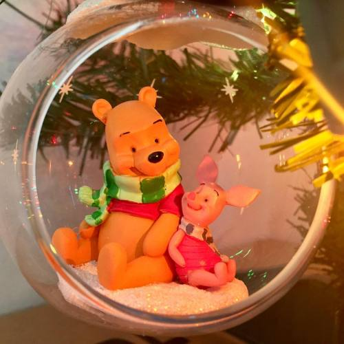 Winnie the Pooh and Piglet Enjoying the holidays! #winniethepooh #piglet #christmas #2016 #happyholidays #ornaments #disney
