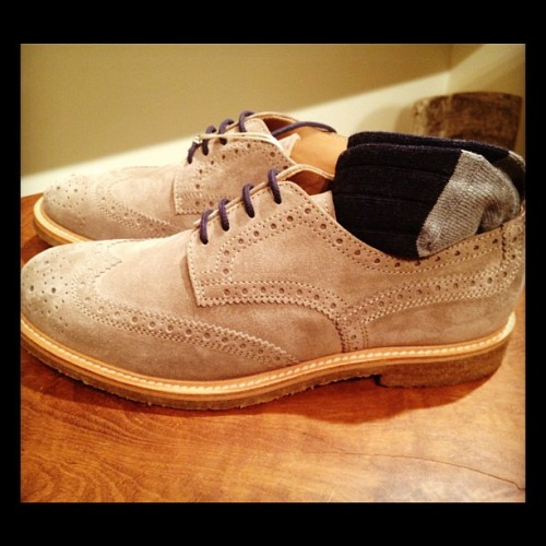 gqfashion:  Brunello Cucinelli's super sweet and styling suede bucks. TS