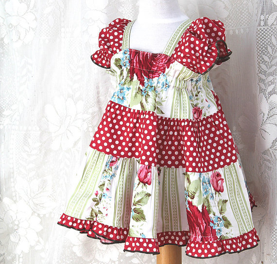 (via Cottage Chic Baby Dress Handmade Baby Clothes by BerryPatchUSA)