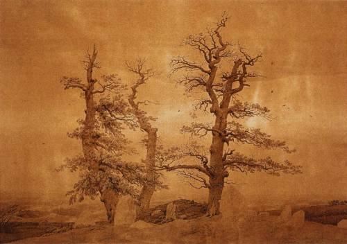 denisforkas:  Caspar David Friedrich - Grave by the Sea. 1806-07