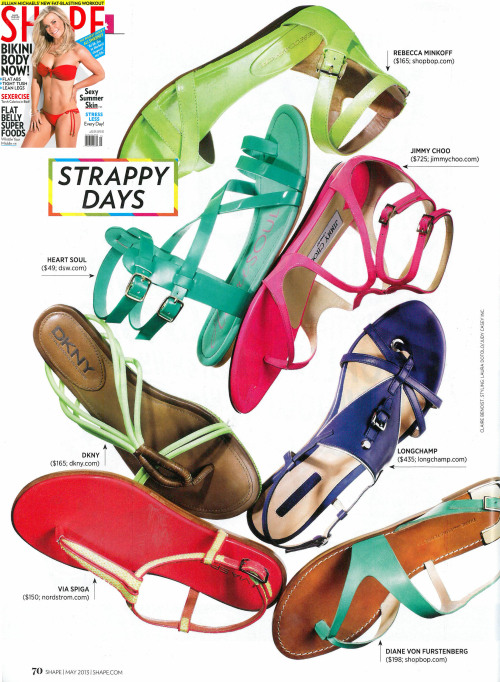 Via Spiga's Cynna in the May issue of Shape Magazine