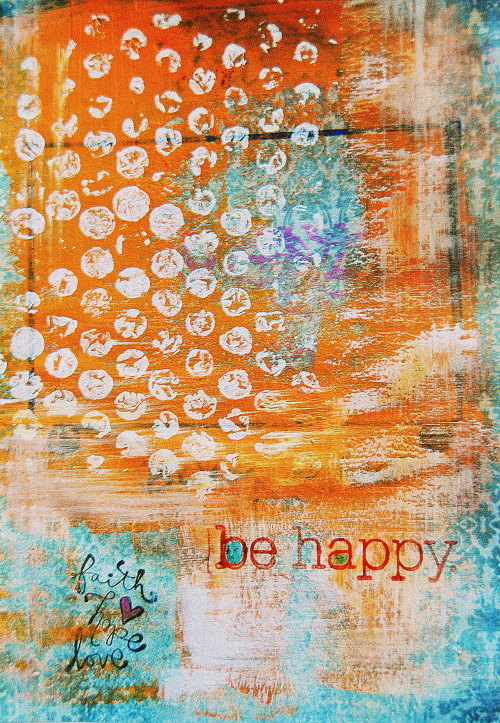 be happy © samos 2013 art journal
