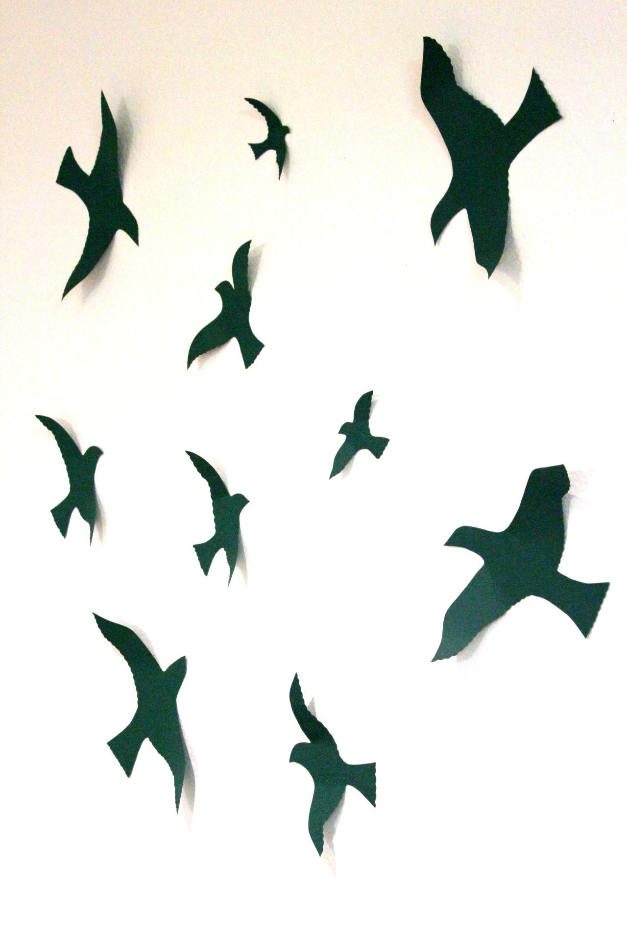 Flying Birds Wall Decor mydreamdecors • bird 3d wall decor, bird wall art, nursery, boys