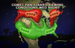 Best Chance to View Rare Comet is Tonight: Where to See It The comet, which won't pass the Earth again for 100 million years, will be highlighted by the crescent moon tonight.