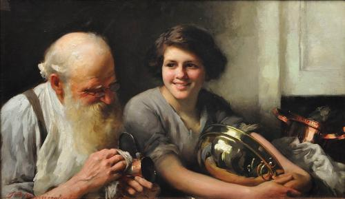 A Merry Heart Goes a Long Way - Thomas Benjamin Kennington 1912