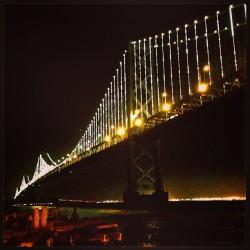 Bay Bridge lightshow. San Francisco, California.