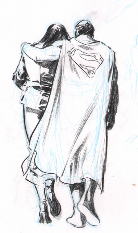 Pencil art, c. 2003. Client: DC Comics Job: Superman: Secret Identity