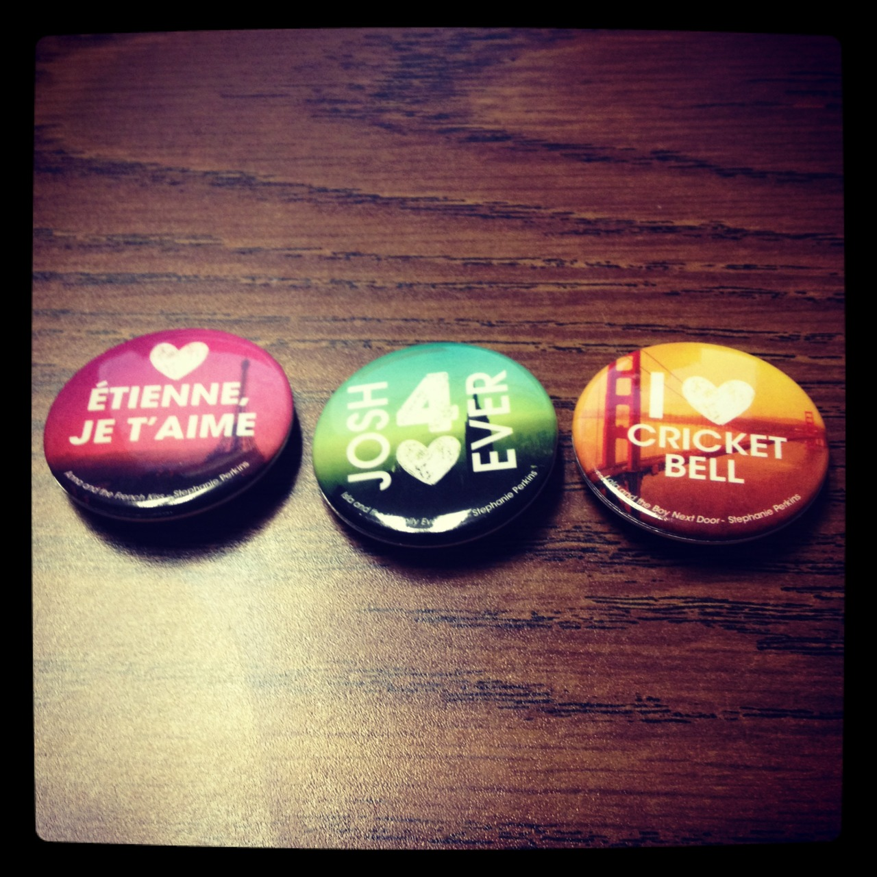 How J'ADORABLE are these buttons, you guys?!?! (Sorry, I couldn't resist.) Which one is your fave?
