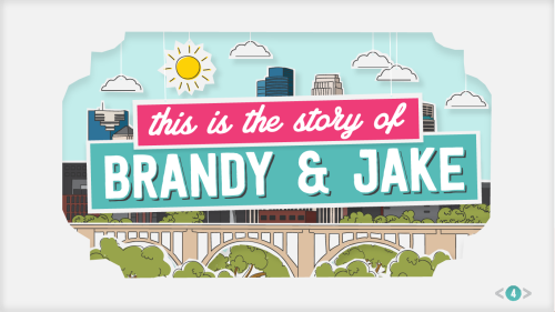 jakeklock:  We made our wedding site into a fancy illustrated story. The parallax scrolling only works on a computer though. Do people still use computers? Whatever, just click here to see how I met my girlfriend!