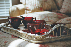 iwillneverbetall:  red tea. | Flickr - Photo Sharing! on We Heart It - http://weheartit.com/entry/56004079/via/szszabina