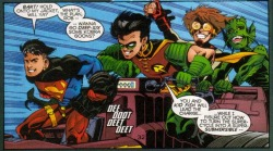 - No Man's Land/Young Justice Special Tim, you geek, hehe.